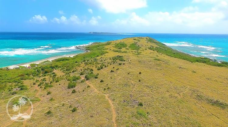 Hiking trails crisscrossing Pinel Island