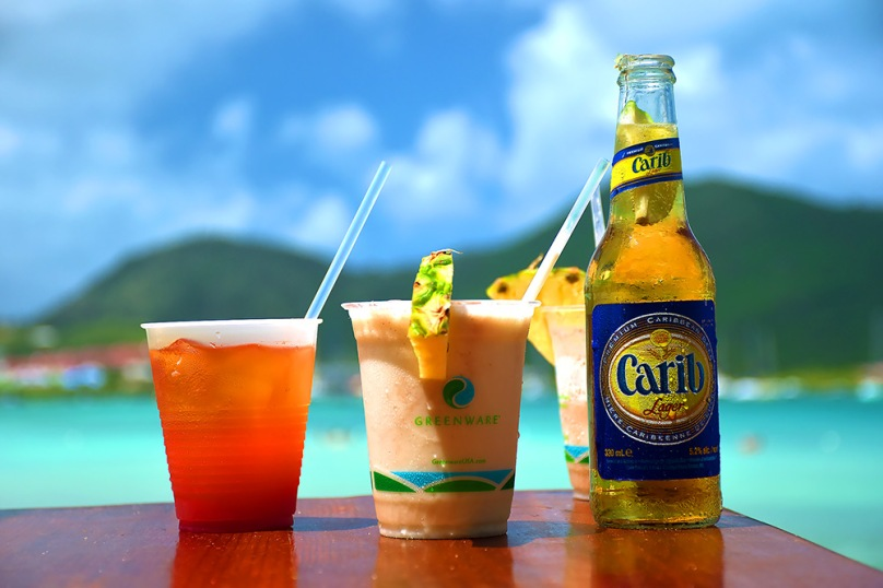 Rehydrate with drinks from Karibuni, Pinel Island, St. Martin