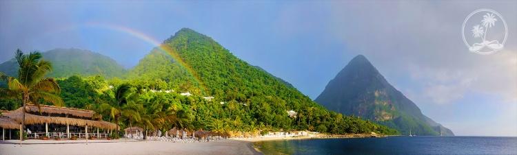 Rainbow over Sugar Beach