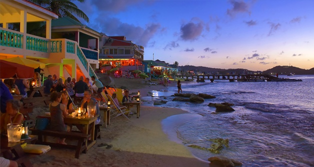 Sunset at Calmos Cafe, Grand Case